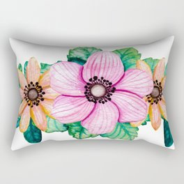 Pretty Crown of Flowers Rectangular Pillow