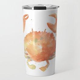 Ocean Crab, Watercolor Painting Travel Mug