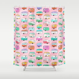Happy Glamper Shower Curtain