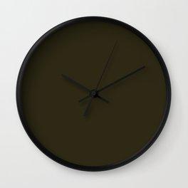 Home Sweet Home ~ Dark Olive Green Wall Clock