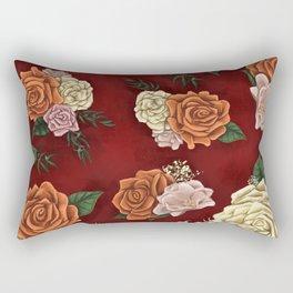 Red luxury flowers Rectangular Pillow