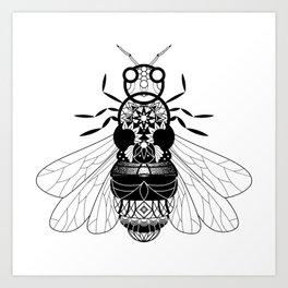 Zentangle Bumble Bee Mandala Art Print
