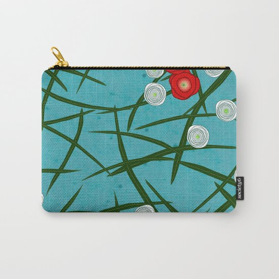 Japenese Water Flowers Pattern Carry-All Pouch