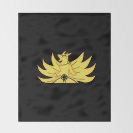 The Demon Fox Within Throw Blanket