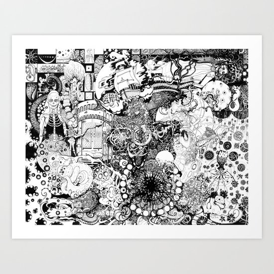 Death of A Pirate Art Print