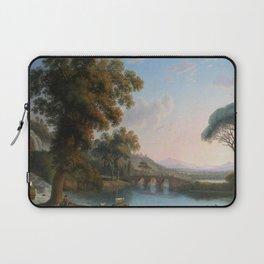 Italian River Landscape by Jakob Philipp Hackert Laptop Sleeve