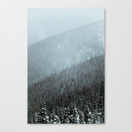 Snowy Mountain Hillsides Canvas Print