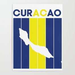 curacao Country and Flag Poster
