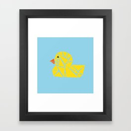 Tanagram Ducky Framed Art Print