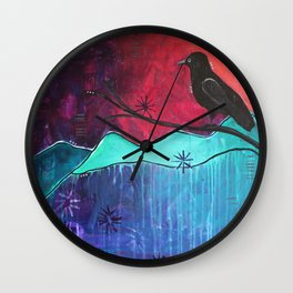 """""""Manifest"""" Original painting by Carly Mojica Wall Clock"""