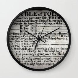 The Ironbridge Tolls Wall Clock