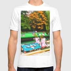 Colors On A Canal London Mens Fitted Tee White MEDIUM
