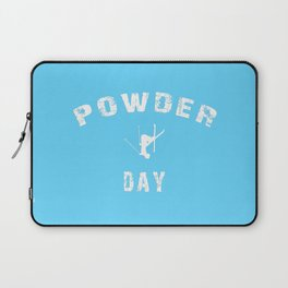 Powder Day Light Blue Laptop Sleeve