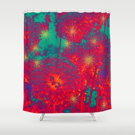 COLOR THERAPY by Flowers  Shower Curtain