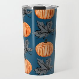 Teal Pumpkin Fall Leaf Travel Mug