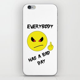 Bad Day Smiley iPhone Skin