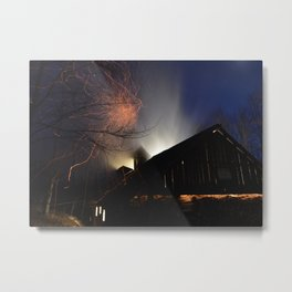 Sugaring at Night Metal Print