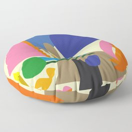 Abstract morning Floor Pillow