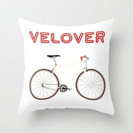 VeLover – Racer – June 12th – 200th Birthday of the Bicycle Throw Pillow