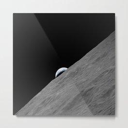 Apollo 17 - Crescent Moon Metal Print
