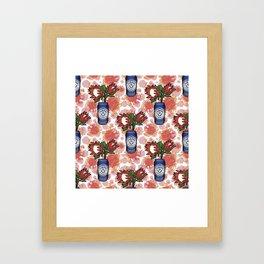 Furphy - Australian Beer with Florals - Protea Framed Art Print