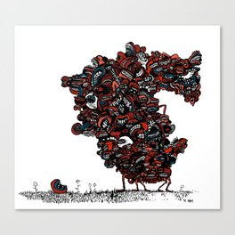 The chattering class  -alt Canvas Print