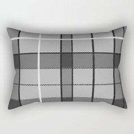 Gray Plaid Rectangular Pillow