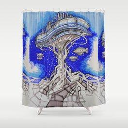PLATFORM CITY Shower Curtain