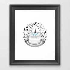 Eat Your Feelings Framed Art Print