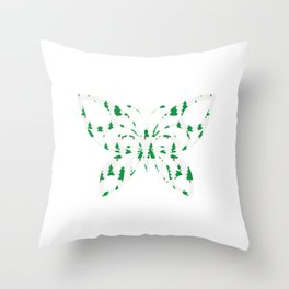 Butterfly 257 Throw Pillow