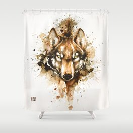"""Into the mirror"" n°1 The wolf Shower Curtain"