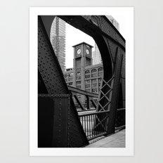 Clark Street Bridge - Chicago Art Print