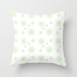 Star Chaser Green Throw Pillow
