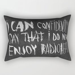 The King of Boring Rectangular Pillow