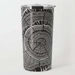 Growth Rings – 65 Years – Black Travel Mug