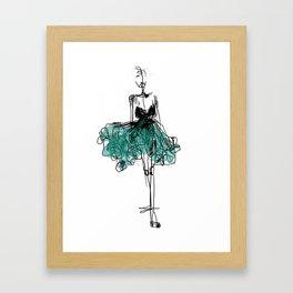 green dress Framed Art Print