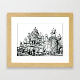 Rajasthan Palace White Framed Art Print