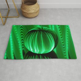 Green waves in glass ball Rug