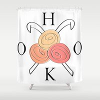 hook Shower Curtains featuring HOOK crochet  by Southernemma