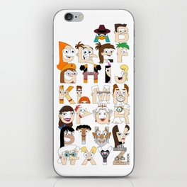 P&F Alphabet iPhone Skin