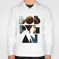 dylan Hoodies featuring Bob Dylan Font Colour by Fligo
