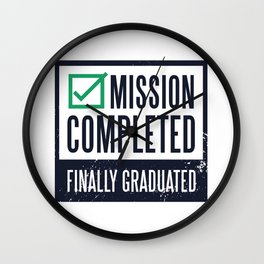 Mission - Finally Doctorate Wall Clock