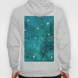 Watercolor galaxy - teal Hoody
