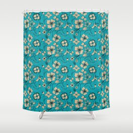 Floral two Shower Curtain