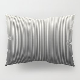 Soft Industrial Cream and Black Blended Random Vertical Lines Pillow Sham