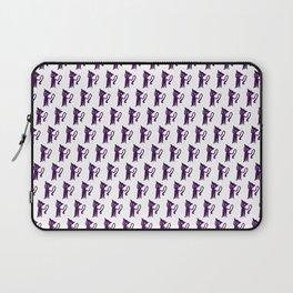 purple cat pattern Laptop Sleeve