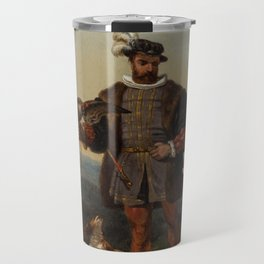 ALEXANDRE-THOMAS FRANCIA (FRENCH 1813-1884) Hunter`s Companions Travel Mug