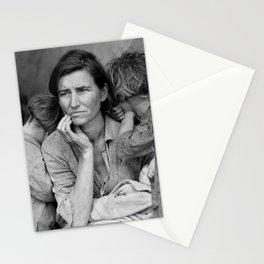 Migrant Mother by Dorothea Lange - The Great Depression Photo Stationery Cards