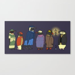 Victorian Penguins Canvas Print