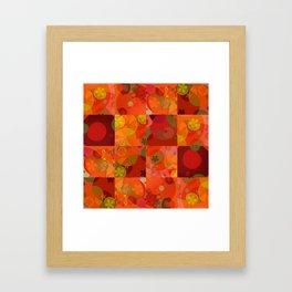 """""""Circles & Flowers Cartoon"""" Framed Art Print"""